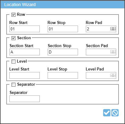 Using the Location Wizard